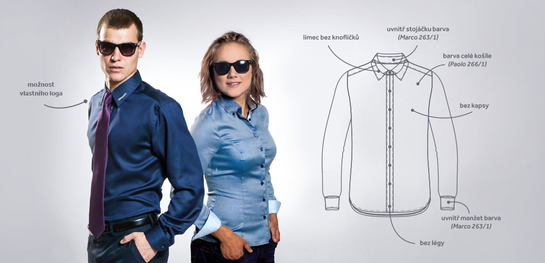 Firemní košile - Piermarti košile e7bde2540a